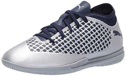 PUMA Future 2.4 IT Jr Soccer Shoe, Silver-Peacoat, 11 M US Big Kid