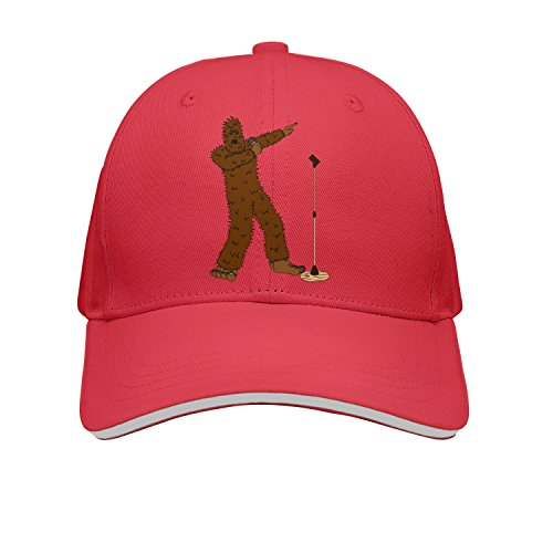SPN37Y Adjustable Sandwich Cap Snapback Hat Sports Caps Printed Cool Sasquatch Hitting The Pitch Snapback Cap Trucker Cap
