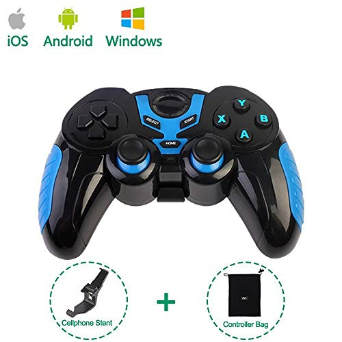 PinPle Bluetooth Game Controller Wireless Rechargeable Gamepad with Clip - Support Android/Windows - for Phone/iPad/Smartphone/Tablet/PC/TV Box
