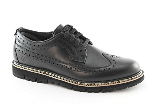 TIMBERLAND A185B English black black derby shoes man laces Nero UP22b