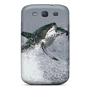 Awesome Design Animal Great White Shark Hard Case Cover For Galaxy S3