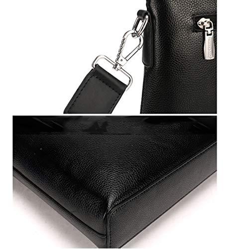 Cuero A Messenger De A color Los Laptop Bag Maletín Moda Hombro Business Sólido Hombres Costura Color La 05q6wnZa