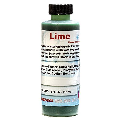 Lime Shaved Ice and Snow Cone Flavor Concentrate 4 Fl Ounce -