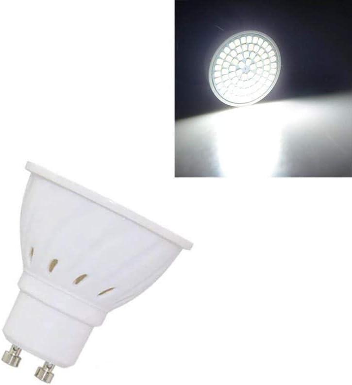 Color : Pure White, Size : 4W Elegdy GU10 4W 5W SMD3528 LED Spotlightting Bulb Warm White//White AC110V
