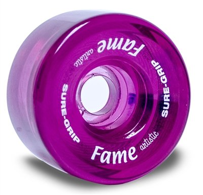 Sure-Grip Fame Artistic Indoor Wheels (Clear Pink) by Sure-Grip