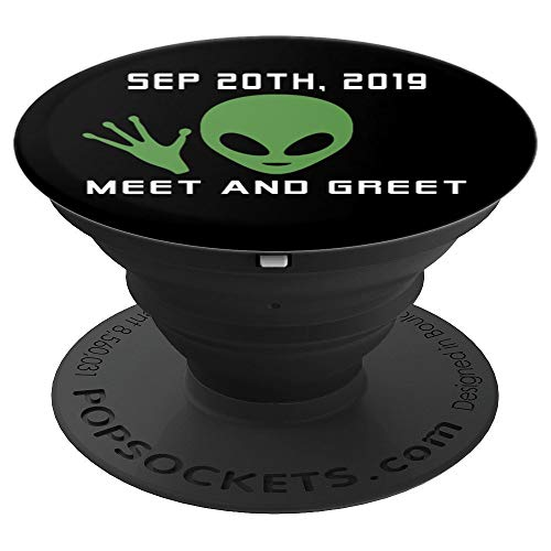 Funny Alien 51 Meet And Greet Meme - PopSockets Grip and Stand for Phones and Tablets