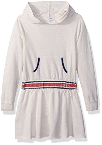 Splendid Oatmeal (Splendid Little Girls' Speckle Baby French Terry Sweatshirt Dress, Oatmeal, 6X)