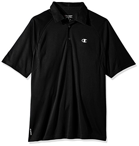 Champions Polo (Champion Men's Catalyst Polo Shirt, Black, 2XL)
