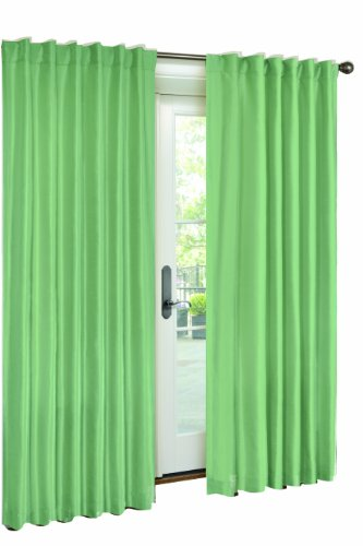 VCNY Interlined Faux Silk Panel- 54-Inch By 84-Inch, Sea Green
