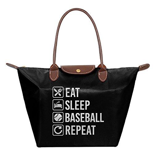 Price comparison product image Baseball Eat Sleep Repeat Shoulder Handbag Tote Bag