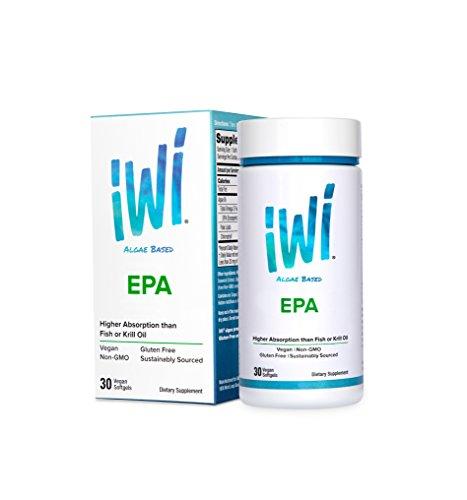 Softgels 30 Vegetarian (iWi® Omega-3 EPA powered by Algae, Highest-Absorption, 1000 Mg of Pure Almega® PL, 150 mg of Polar Lipids, 250 mg of EPA, 100% Vegetarian, Non-GMO, Gluten-Free, Sustainable US Farming, 30 Softgel)