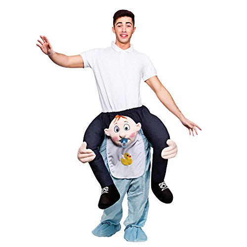 GUAITAI Shoulder Ride On Mascot Costume Piggy Back Party Fancy Dress Carry Costume 22 Style (3-5 Working Days) (Baby/Blue) -