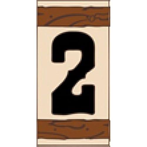"3"" X 6"" Ceramic Tile Address House Number WESTERN Design #2 - TWO"