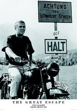 The Great Escape LAMINATED Poster Licensed ENCAPSULATED Steve McQueen