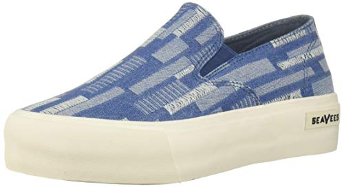 - SeaVees Women's Baja Platform Embroidery Sneaker Stitched Denim 8 M US
