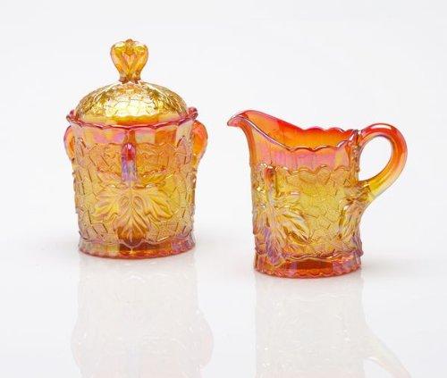 Mosser Glass Maple Leaf Creamer in Marigold