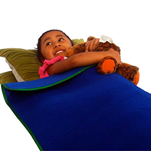 Weighted Blanket Bundle in Blue with Green Trim – 5 Pounds