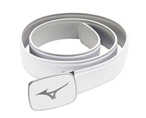 Mizuno Golf Unisex Plain Leather Belt - One Size - White