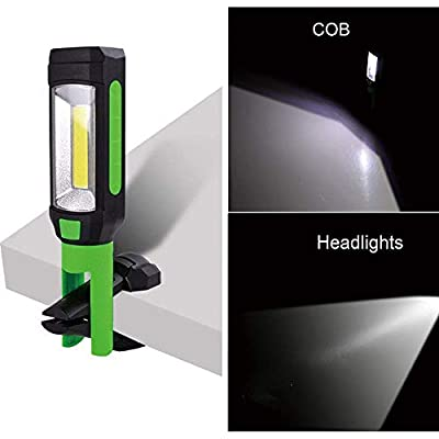 SHUDAGE Emergency Outdoor Flashlights ? 2in1 COB LED Magnetic Camping Work Inspection Light Hand Torch Lamp with Hook
