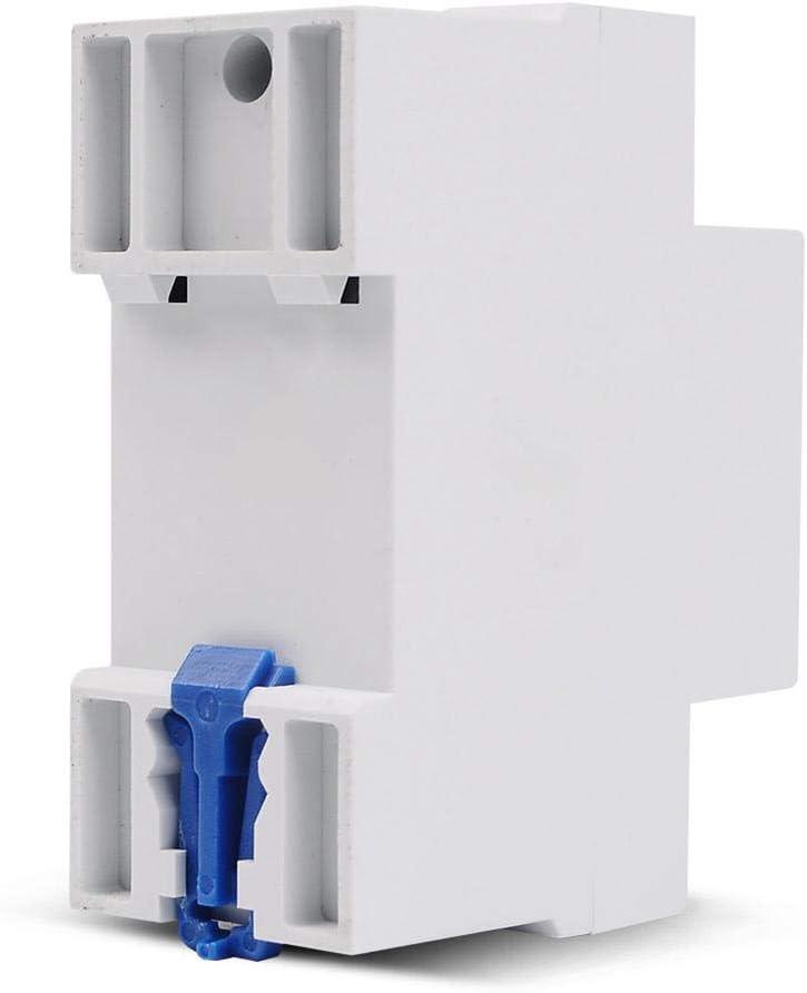 blanc, 63a Tension de protection de sous-tension SVP-916 220v 63a surtension intelligente de protection de tension de courant alternatif /à un seul /étage et le protecteur de courant de sous-tension