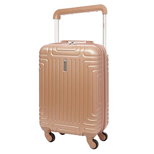Aerolite ABS Hard Shell Carry On Hand Cabin Luggage Trolley Bag Suitcase 55x35x20 with 4 Wheels, easyJet Ryanair British…
