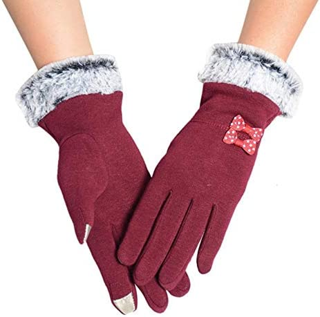 QWERGLL Smartphone Vogue Gloves Women Winter Mitts Full Finger Wrist Glove Mitones Guantes: Amazon.es: Deportes y aire libre