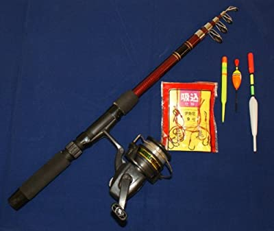 Deluxe Fishing Rod And Reel Starter Kit Telescopic Rod Reel Hooks And Floats by RRA Inovation