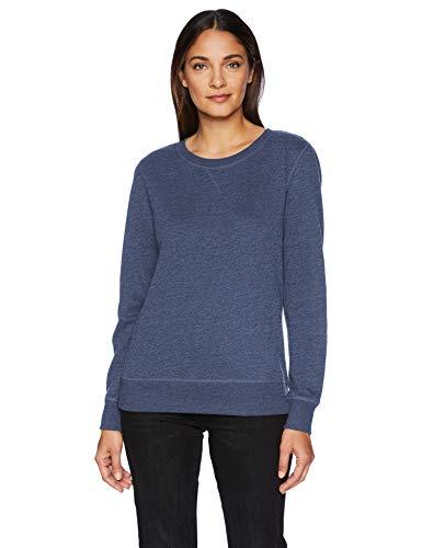 Amazon Essentials Women's French Terry Fleece Crewneck Sweatshirt Sweater, -navy heather, Large ()