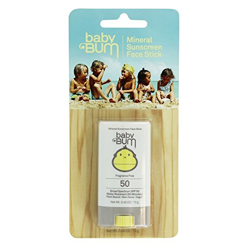 Baby Bum - Mineral Sunscreen Face Stick Fragrance Free 50 SPF - 0.45 oz.