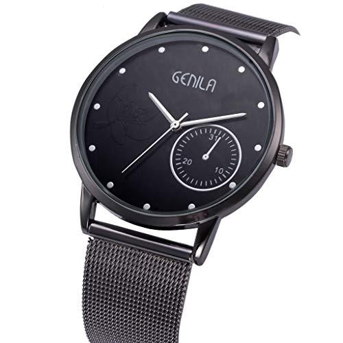 Men Watches, Fashion Analog Quartz Watch for Men, Mitiy Stainless Steel Mesh Classic Luxury Wristwatch