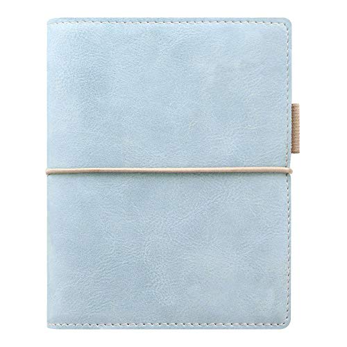 Pocket Domino Organizer - Filofax 2019 Pocket Domino Organizer, Soft Pale Blue, 4.75 x 3.25 inches (C022582-19)
