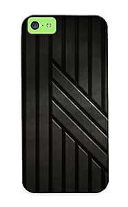 Awesome Ddtbuk-2957-qalpmkt Exultantor Defender Tpu Hard Case Cover For Iphone 5c- Metal Texture