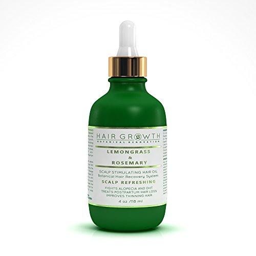 Hair Growth Lemongrass-Rosemary Lab Formulated Botanical Hair Recovery System Anti-DHT/Alopecia Organic 4 Oz