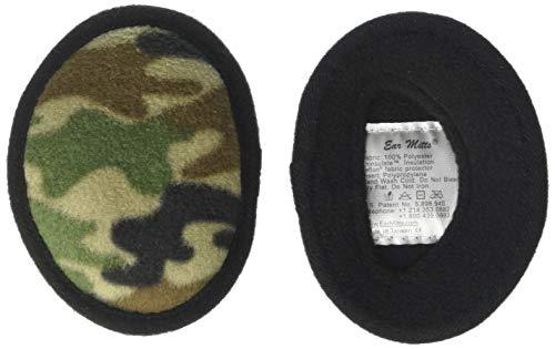 Ear Mitts Bandless Ear Muffs For Men, Camouflage Fleece Ear Warmers, -