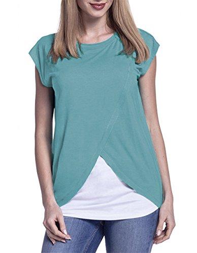 T shirt Vrouw Lactatie shirts Casual Groen Voor Zomer Comfortabele T Empalme Besthoo shirts Tops Losse Vrouwen T Zwangere Senora Laag Sencillas Een dAIqpw5
