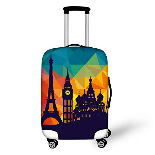 Bigcardesigns Travel Luggage Cover Dust-proof Covers Colorful for Suitcase L Size Apply 26-30
