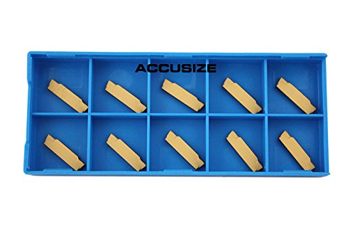 Accusize Tools - MGMN-2 Double End Carbide Cut-Off Insert, Tin Coated, 10 Pcs/Box, 2403-4022x10 ()