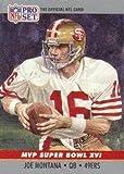 #9: Joe Montana 1990 Pro-Set Super Bowl MVP Card #16