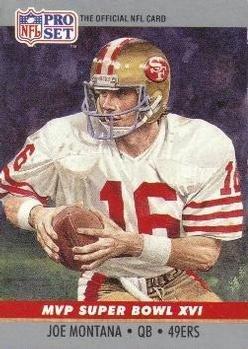 Joe Montana 1990 Pro-Set Super Bowl MVP Card #16 (Joe Montana Football Trading Card)