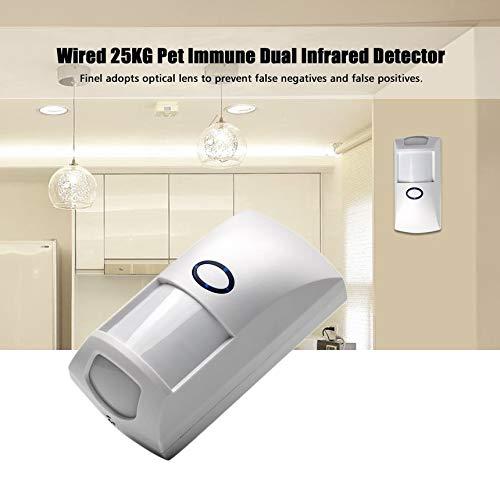 Mini Portátil Con Cable 25 KG Mascota Inmune Infrarrojo Dual PIR Sensor Detector de Movimiento de Bajo Consumo para Seguridad en el Hogar CT60Y: Amazon.es: ...