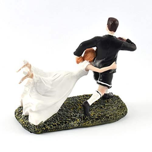 rugby couple wedding cake topper uxcell 174 groom running rugby figurine wedding 19463