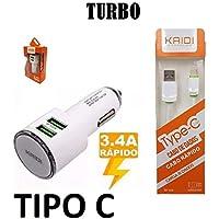 Carregador Veicular Turbo 3.4a Tipo C Samsung Asus Motorola