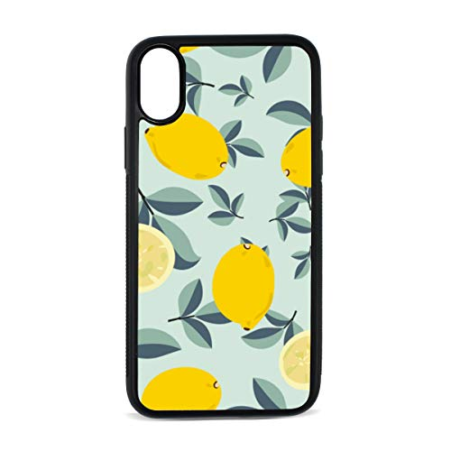 iPhone Lemon Sour and Sweet Fruit Fresh Summer Bright Design Yellow Digital Print TPU Pc Pearl Plate Cover Phone Hard Case Accessories Compatible with Protective Apple Iphonex/xs Case 5.8 Inch