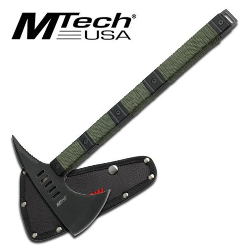 Mtech Heavy Duty Zombie Killer Tomahawk Tactical Hatchet Axe With Sheath AXE6, Outdoor Stuffs