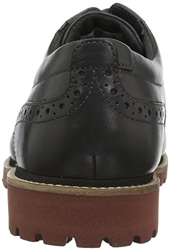 Rockport Mens Marshall Vingspets Oxford Grått Skinn