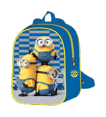 Kids-Euroswan-Minions-MN16399-Mini-backpack-azul-Medidas-268-x-242-x-26-cm