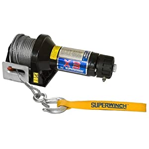 Superwinch 1321 X3D 12VDC winch; rated line pull of 4,000 lb/1814 kg, winch motor-end switch