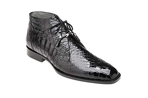 Belvedere Stefano Black Genuine Alligator Ankle Boot (9) - Mens Black Belvedere