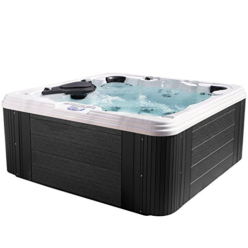 Essential Hot Tubs - Civility - 60 Jets, Acrylic Hot Tub, Grey by Essential Hot Tubs