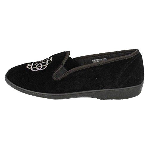Clarks Para Mujer Zapatillas De Marlo Marsha Negros Black Fabric